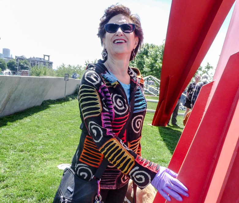 Photo of ACCESS tour participant at the Olympic Sculpture Park.