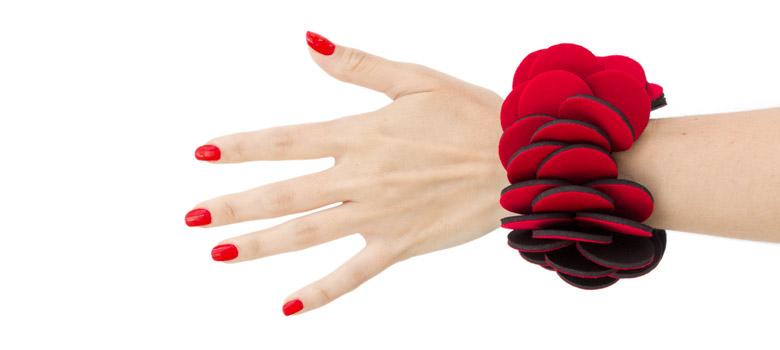 Red Neoprene Bracelet