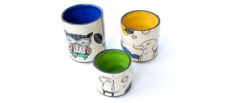Cary Lane ceramic cups