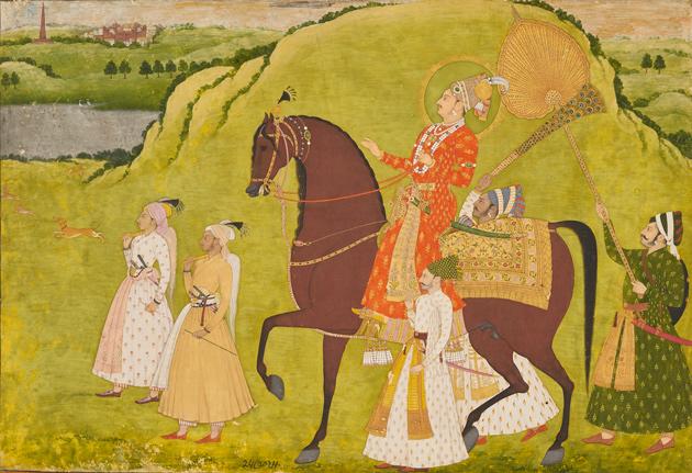 Maharaja Abhai Singh on Horseback