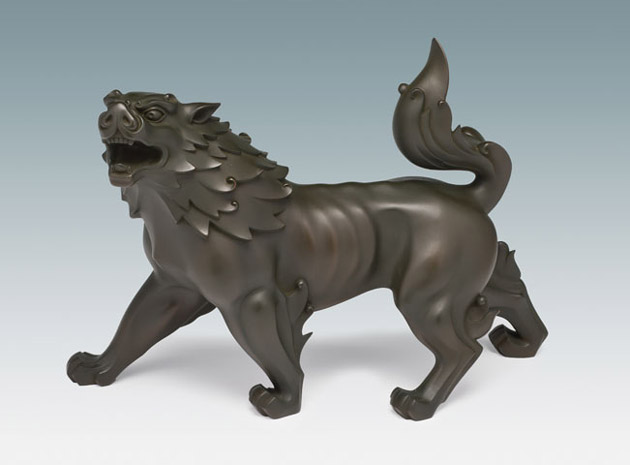 Deluded Demons Run Away (Roaring Lion Sculpture)