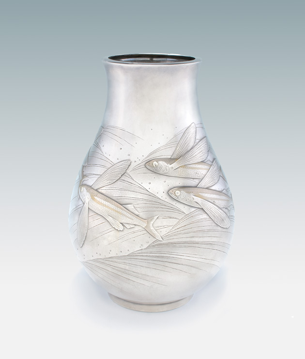 Vase with Flying Fish Design