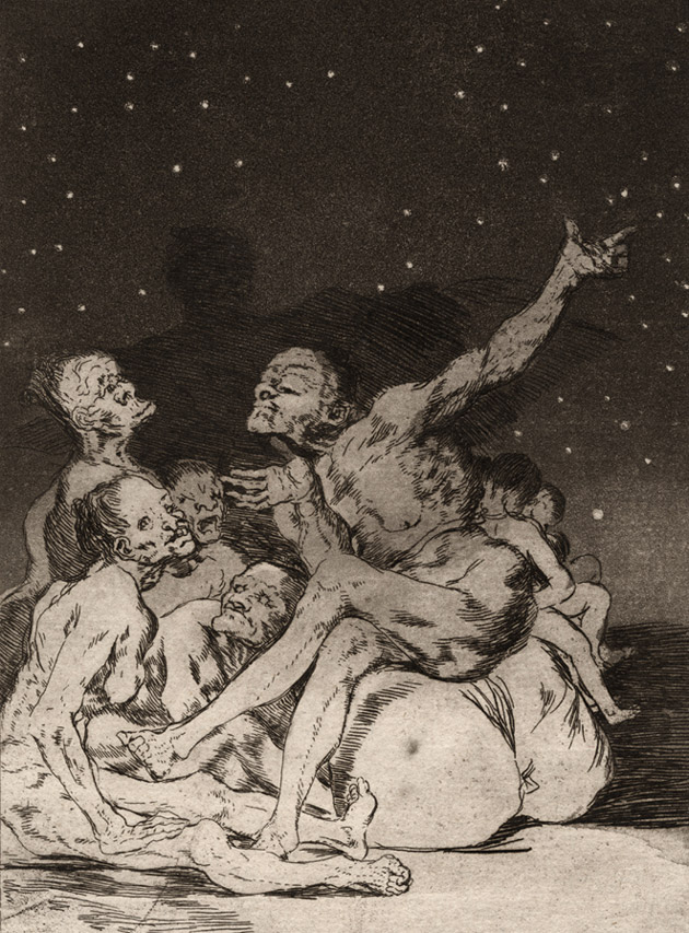Si amanece; nos Vamos. (When day breaks we will be off.)</em>, Francisco José Goya y Lucientes, 1796-1797.