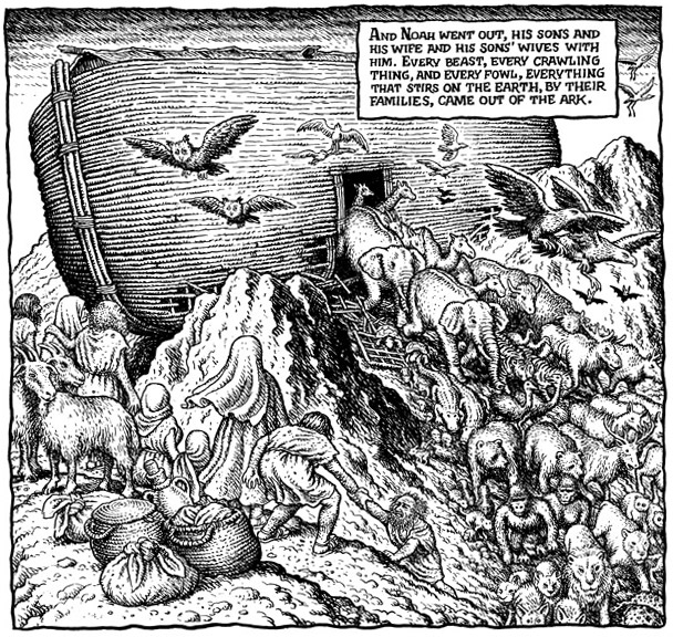 The Book of Genesis Illustrated by R. Crumb (detail), R. Crumb, 2009.