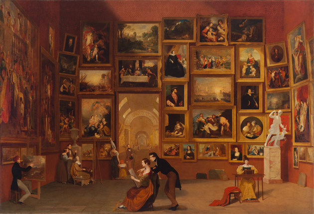 Samuel F. B. Morse's Gallery of the Louvre